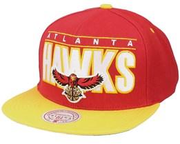 Atlanta Hawks Billboard Classic Hwc Red/Gold Snapback - Mitchell & Ness