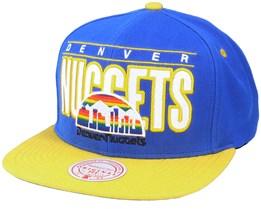 Denver Nuggets Billboard Classic Hwc Royal/Yellow Snapback - Mitchell & Ness