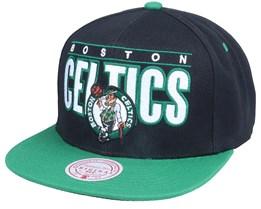 Boston Celtics Billboard Classic Black/Green Snapback - Mitchell & Ness