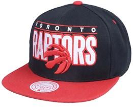 Toronto Raptors Billboard Classic Black/Red Snapback - Mitchell & Ness