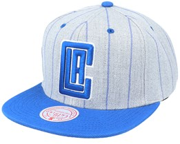 Los Angeles Clippers Grey Pin Pop Heather Grey Snapback - Mitchell & Ness