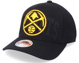 Denver Nuggets Double Triple Stretch Hwc Black Adjustable - Mitchell & Ness