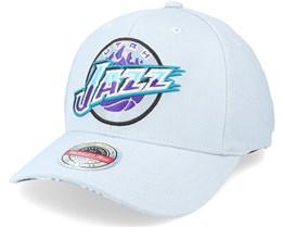 Utah Jazz Spot Lights Stretch Hwc Grey Adjustable - Mitchell & Ness