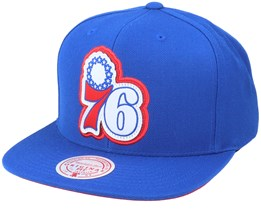Philadelphia 76ers Pop Back Royal Snapback - Mitchell & Ness