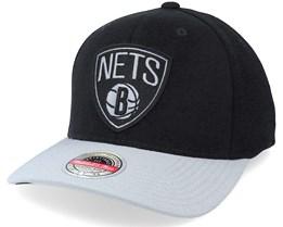 Brooklyn Nets Spot Lights Stretch Black/Grey Adjustable - Mitchell & Ness