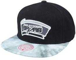 San Antonio Spurs Blitzed Hwc Black Snapback - Mitchell & Ness