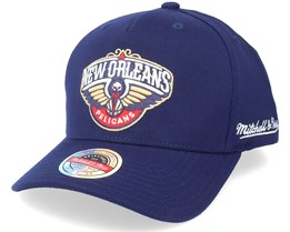 New Orleans Pelicans Dropback Solid Navy Adjustable - Mitchell & Ness
