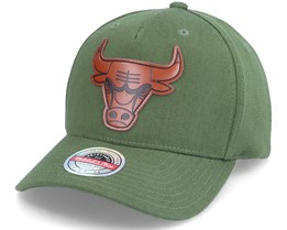 Chicago Bulls Pack Olive Adjustable - Mitchell & Ness