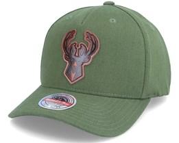Milwaukee Bucks Pack Olive Adjustable - Mitchell & Ness