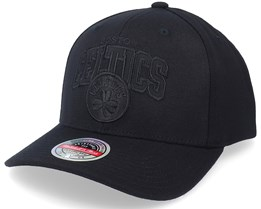 Boston Celtics Black Out Arch Black Adjustable - Mitchell & Ness