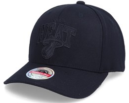 Miami Heat Black Out Arch Snapback Black Adjustable - Mitchell & Ness