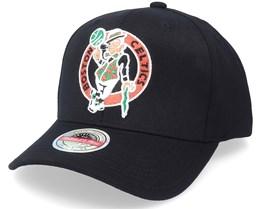 Boston Celtics Altered Flip Black Adjustable - Mitchell & Ness