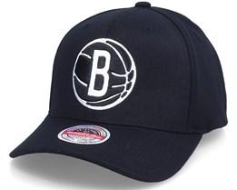 Brooklyn Nets Altered Flip Black Adjustable - Mitchell & Ness