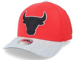 Chicago Bulls Team Grey Blackout Red/Grey Adjustable - Mitchell & Ness