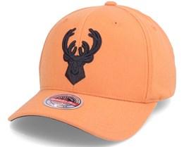 Milwaukee Bucks Cast Snapback Dark Orange Adjustable - Mitchell & Ness