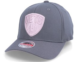 Brooklyn Nets Pink Cast Charcoal Grey Adjustable - Mitchell & Ness
