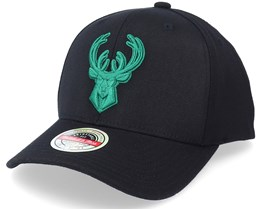 Milwaukee Bucks Duotone Black Adjustable - Mitchell & Ness