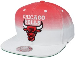 Chicago Bulls Colour Fade White/Red Snapback - Mitchell & Ness