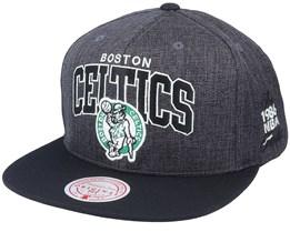 Boston Celtics G2 Winners Grey/Black Snapback - Mitchell & Ness