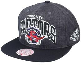 Toronto Raptors G2 Winners Grey/Black Snapback - Mitchell & Ness