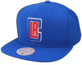 LA Clippers Wool Solid Royal Snapback - Mitchell & Ness