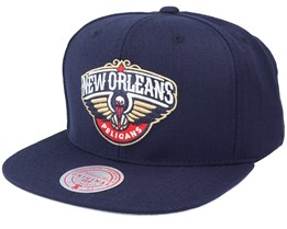 New Orleans Pelicans Wool Solid Navy Snapback - Mitchell & Ness