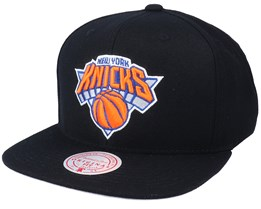 New York Knicks Wool Solid Black Snapback - Mitchell & Ness
