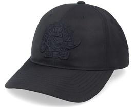 Toronto Raptors Combat Low Pro Black Dad Cap - Mitchell & Ness