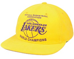 LA Lakers Champs Deadstock Yellow Snapback - Mitchell & Ness
