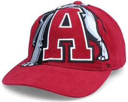 U. Of Alabama Ncaa Big Logo Deadstock Red Adjustable - Mitchell & Ness
