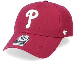 Philadelphia Phillies Mvp Cardinal Red/White Adjustable - 47 Brand
