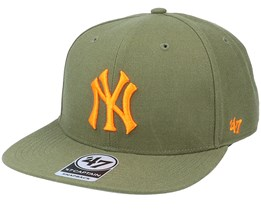 New York Yankees No Shot Captain Sandalwood Green/Orange Snapback - 47 Brand