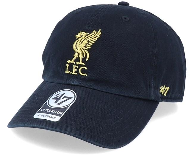 Hatstore Exclusive Liverpool Fc Black Gold Dad Cap 47 Brand Caps Hatstoreworld Com
