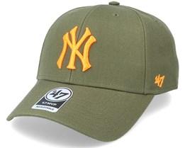 New York Yankees Mvp Sandalwood Green/Orange Adjustable - 47 Brand