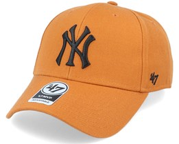 New York Yankees Mvp Burnt Orange/Black Adjustable - 47 Brand