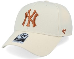 New York Yankees Mvp Natural/Bronze Adjustable - 47 Brand