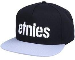 Corp Black/Grey Snapback - Etnies