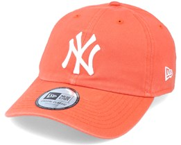 New York Yankees Washed Dad Cap Casual Classic 9Twenty Orange Adjustable - New Era