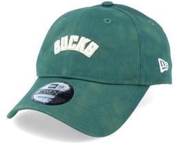 Milwaukee Bucks Team Tie Dye Dad Cap 9Twenty Green Adjustable - New Era