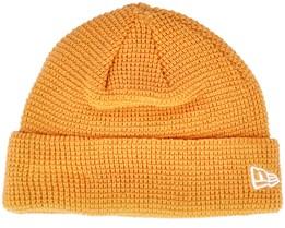 None Knit Yellow Short Beanie - New Era