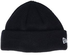 None Knit Black Short Beanie - New Era