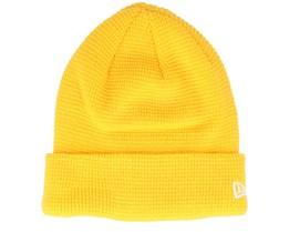 None Colour Waffle 2 Knit Yellow Cuff - New Era
