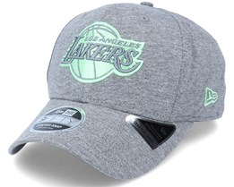 LA Lakers Jersey 9Fifty Stretch Snap Heather Grey/Pastel Teal Adjustable - New Era