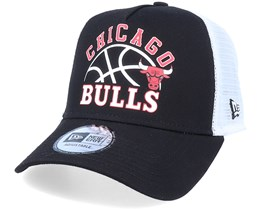 Chicago Bulls NBA Graphic A-Frame Black/White Trucker - New Era