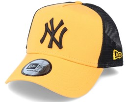New York Yankees League Essential A-Frame Yellow/Black Trucker - New Era