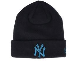 New York Yankees League Essential Knit Black/Blue Cuff - New Era