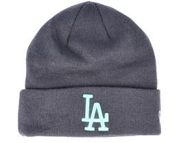 Los Angeles Dodgers League Essential Knit Grey/Mint Cuff - New Era