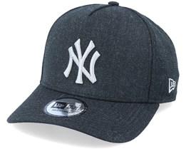 New York Yankees Heather Pop A-frame Trucker Ne Black/Grey Adjustable - New Era