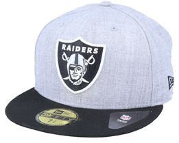 Las Vegas Raiders Essential Heather Grey/Black 59Fifty Fitted - New Era