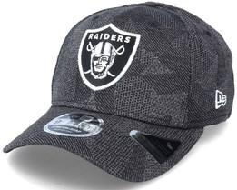 Las Vegas Raiders Engineered Fit 9Fifty Stretch Snap Dark Grey Adjustable - New Era
